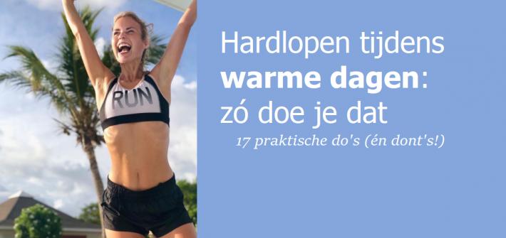 hardlopen tijdens warm weer